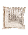 20x20 Crackle Faux Suede Pillow