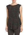 Dot Printed Seamed Top