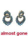 Made In Thailand 18k Gold London Blue Topaz And Diamond Earrings