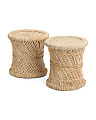 Made In India Set Of 2 Ratan Stools