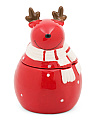 10oz Reindeer Ceramic Jar Candle