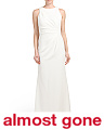 Sleeveless High Neck Gown
