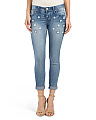 Juniors Daisy Rolled Ankle Jeans