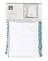 40x84 Set Of Two Pom Pom Trim Curtains