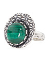 Made In Israel Sterling Silver Malachite Ring