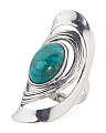 Made In Israel Sterling Silver Turquoise Knuckle Ring