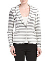 Striped One Button Blazer