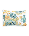 Made In India 16x24 Beaded Floral Pillow