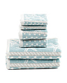 6pc Coastal Stripe Towel Set