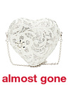 Made In Italy Corazon Crystal Heart Minaudiere Purse