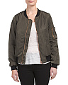 Juniors Nylon Padded Bomber Jacket