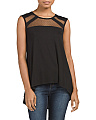 Mesh Detail Sleeveless Top