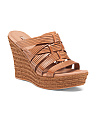 Hierarchy Leather Wedges