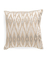 20x20 Metallic Embroidered Linen Pillow