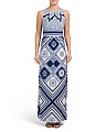 Printed Border Maxi Dress