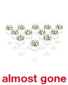 12pc Holly & Berries Wine Glasses