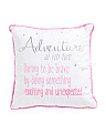 18x18 Definition Of Adventure Pillow