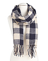 Checkered Woven Blanket Scarf