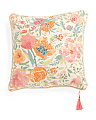 Made In India 20x20 Floral Reversible Pillow