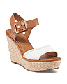 Carlazzo Leather Wedges