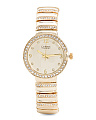 Women's Crystal Bezel And Link Gold Tone Watch