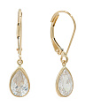 14k Gold Cubic Zirconia Pear Drop Earrings