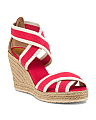 Lola Stretch Espadrille Wedges