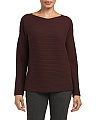 Cashmere Ribbed Boat Neck Sweater