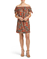 Juniors Made In Usa Paisley Dress