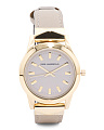 Women's Labelle Stud Leather Strap Watch In Gold