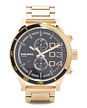 Men's Double Down Bracelet Watch In Gold Tone