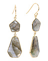 Made In India Sterling Silver Labradorite Drop Earrings