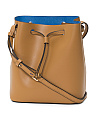 Blair Blake Leather Drawstring Bag