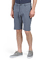 Multifunctional Stretch Chambray Shorts