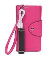 Leather Wristlet Pouch With Portable Charger