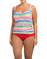 Plus Spectrum Tankini Set