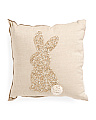 Made In India 16x16 Beaded Bunny Pillow