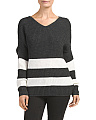 Juniors Athletic Striped Sweater