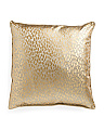 Made In USA 22x22 Gold Metallic Raindrop Pillow