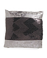 18x18 Sequin Faux Leather Pillow