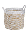 Large Colorblock Seagrass Basket