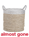 Medium Colorblock Seagrass Basket
