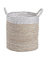 Small Colorblock Seagrass Basket