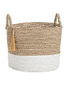 Large Seagrass Raffia Basket