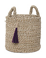 Small Seagrass Basket With Tassel