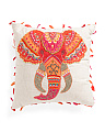 Made In India Embroidered Elephant Pillow
