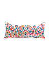 Made In India 33x14 Embroidered Medallion Pillow