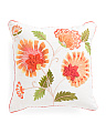Made In India 18x18 Embroidered Floral Pillow