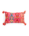 Made In India Embroidered Pillow With Tassels