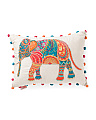 Made In India 16x22 Embroidered Elephant Pillow